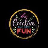 Soyez créatif et ayez l'amusement Image libre de droits