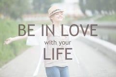 Soyez dans l'amour avec votre vie Images libres de droits