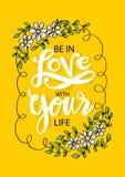 Soyez dans l'amour avec votre vie illustration libre de droits