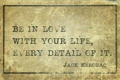 Soyez dans l'amour Kerouac Photos stock