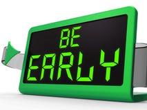 Soyez date-butoir tôt d'expositions de message d'horloge et à l'heure Photo libre de droits