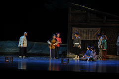 Soyez de caractère noble et de prestige élevé de l'opéra plus âgé de Jiangxi une balance Image libre de droits