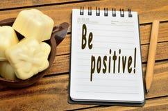 Soyez des mots de positivité Images stock