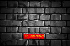 Soyez différent Image libre de droits