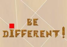Soyez différent Photos stock
