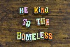 Soyez gentillesse courageuse sans abri d'aide de sorte de raison généreuse photos libres de droits