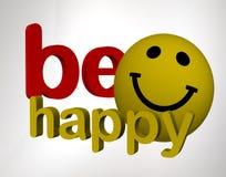 Soyez heureux Images libres de droits