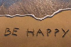 Soyez heureux Images stock