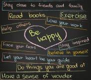 Soyez heureux Image libre de droits