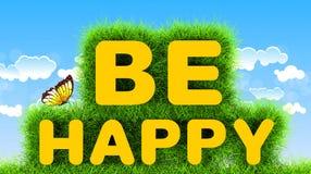 Soyez heureux Photos libres de droits