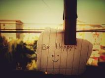 Soyez heureux Photographie stock libre de droits