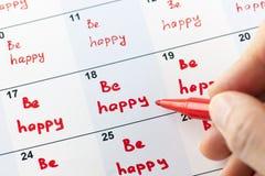 Soyez heureux chaque jour Photo libre de droits