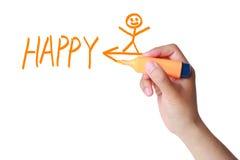 Soyez heureux maintenant Image libre de droits