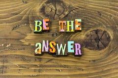 Soyez honnête répondent à la copie sage de typographie d'aide de sagesse de question illustration stock