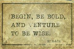 Soyez Horace audacieux images libres de droits