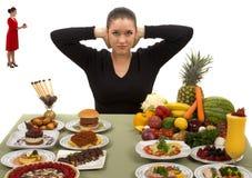 Soyez intense et mangez sain Photo stock