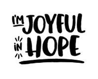 Soyez joyeux dans l'espoir Photos stock