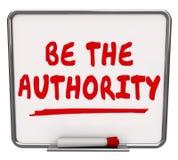 Soyez la connaissance sèche d'expertise de conseil d'effacement de mots d'autorité illustration de vecteur