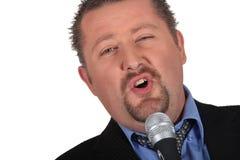 Soyez le chanteur masculin Image libre de droits