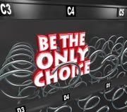 Soyez le seul avantage compétitif bien choisi de distributeur automatique  Photos libres de droits