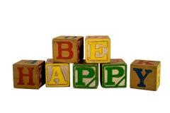 Soyez les blocs heureux Photographie stock libre de droits