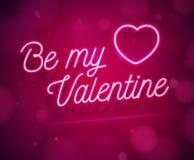 Soyez ma carte de voeux de Valentine Images libres de droits