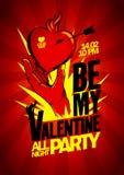 Soyez ma conception de partie de Valentine Photographie stock libre de droits