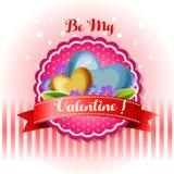Soyez ma fleur bleue de carte de valentine illustration de vecteur