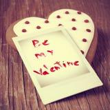 Soyez ma valentine, avec un rétro effet Images libres de droits