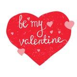 Soyez ma valentine en couleurs illustration de vecteur