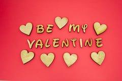 Soyez mes coeurs de message de valentine photos libres de droits