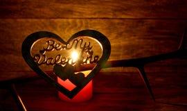 Soyez mon coeur fabriqué à la main de Valentine Photo libre de droits