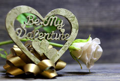 Soyez mon coeur fabriqué à la main de Valentine Photos libres de droits