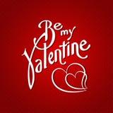 Soyez mon fond créatif de police de valentine Vecteur Images libres de droits