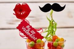 Soyez mon inscription de Valentine Images libres de droits