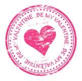 Soyez mon tampon en caoutchouc de Valentine Image libre de droits