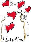 Soyez mon Valentine illustration libre de droits