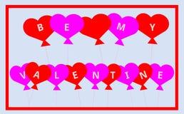 Soyez mon Valentine Balloons - pour vous avec amour Photographie stock
