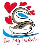 Soyez mon Valentine Rose rouge illustration de vecteur