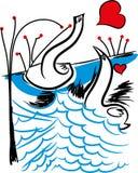 Soyez mon Valentine Rose rouge illustration stock