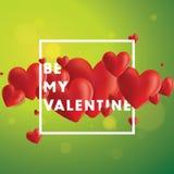 Soyez mon Valentine Vector Background Photo libre de droits