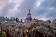 Soyez notre château de restaurant d'invité dans le royaume magique chez Walt Disney World photographie stock libre de droits