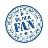 Soyez notre fan Photo libre de droits