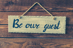 Soyez notre invité images stock