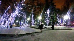 soyez peut concevoir l'hiver utilisé par nuit d'horizontal d'illustration votre moscou Le théâtre de Mossovet photos libres de droits