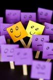 Soyez positif, soyez différent, tenez-vous  Photographie stock