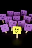 Soyez positif, soyez différent, tenez-vous  Photo stock