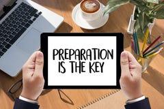 SOYEZ PRÉPARÉ et la PRÉPARATION EST le plan PRINCIPAL, préparent, exécutent image libre de droits