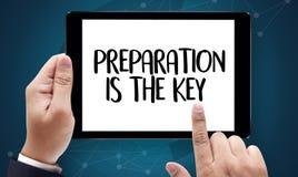 SOYEZ PRÉPARÉ et la PRÉPARATION EST le plan PRINCIPAL, préparent, exécutent Image stock