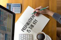 SOYEZ PRÉPARÉ et la PRÉPARATION EST le plan PRINCIPAL, préparent, exécutent, images stock